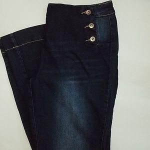 Fashion to Figure Jeans - FASHION TO FIGURE sailor button flare jeans